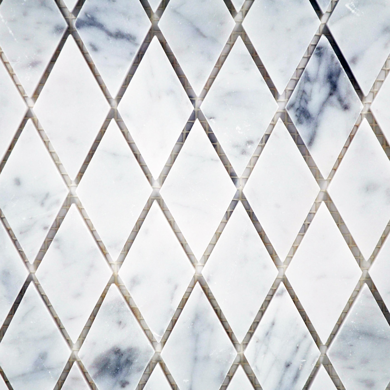 Carrara white harlequin polished bella casa tile collection for Bella casa tiles
