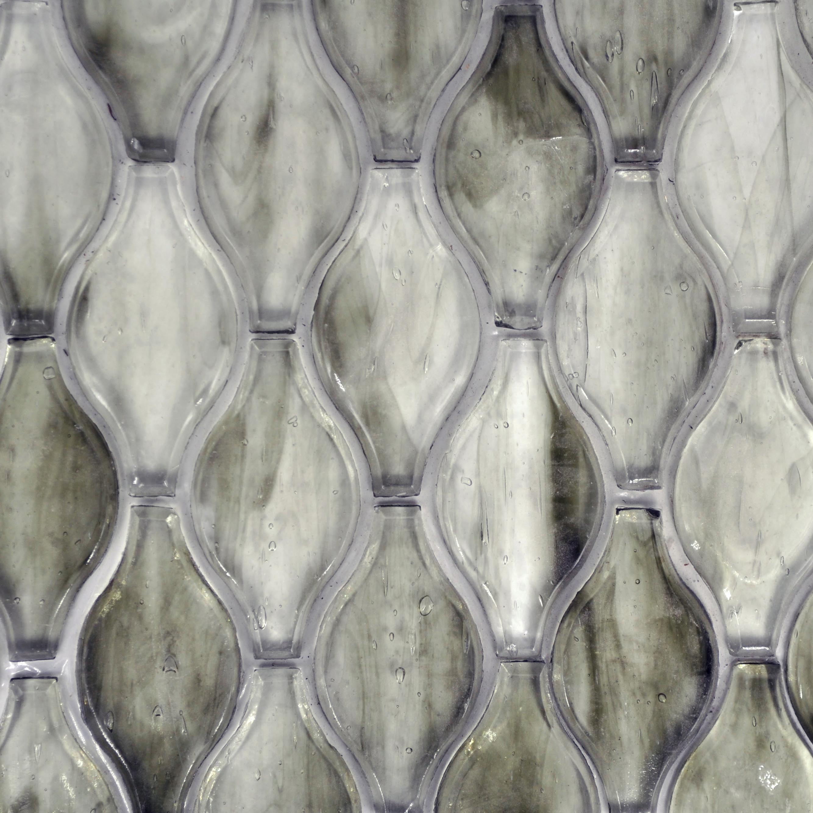 Fusion glass shadow grey 02g teardrop 1 bella casa tile for Bella casa tiles