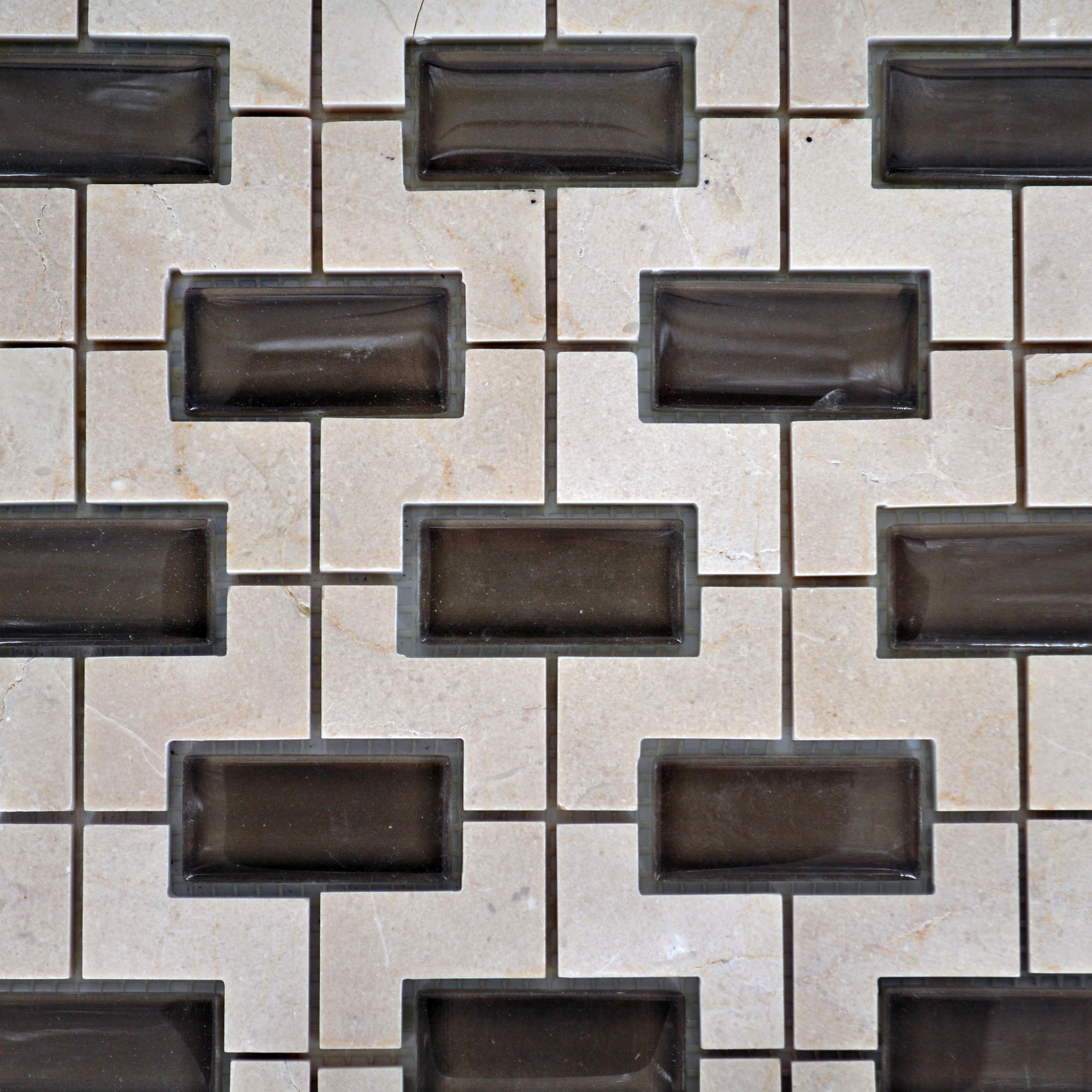 Nicole stone glass crema marfil bella casa tile collection for Bella casa tiles