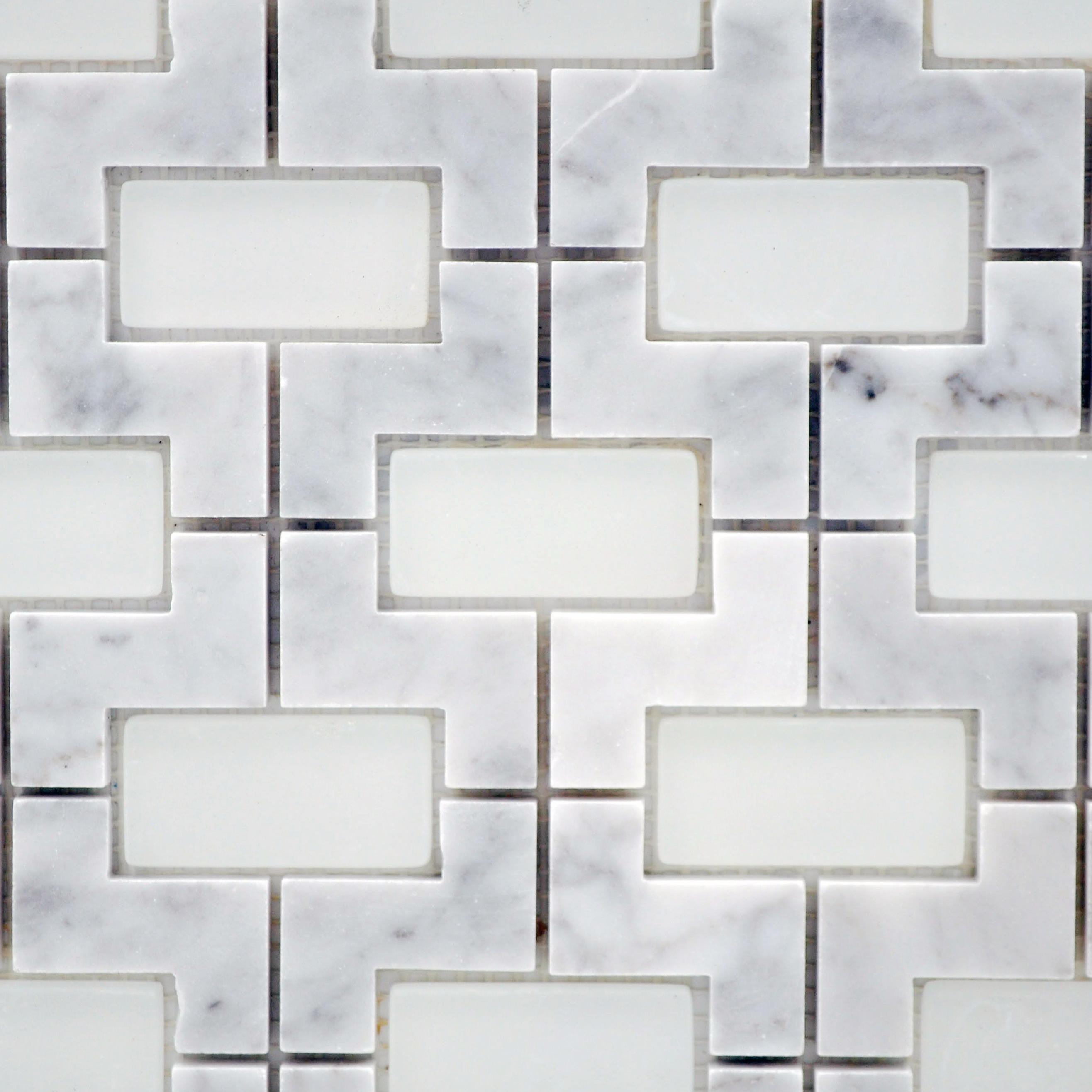 Nicole stone glass carrara bella casa tile collection for Bella casa tiles