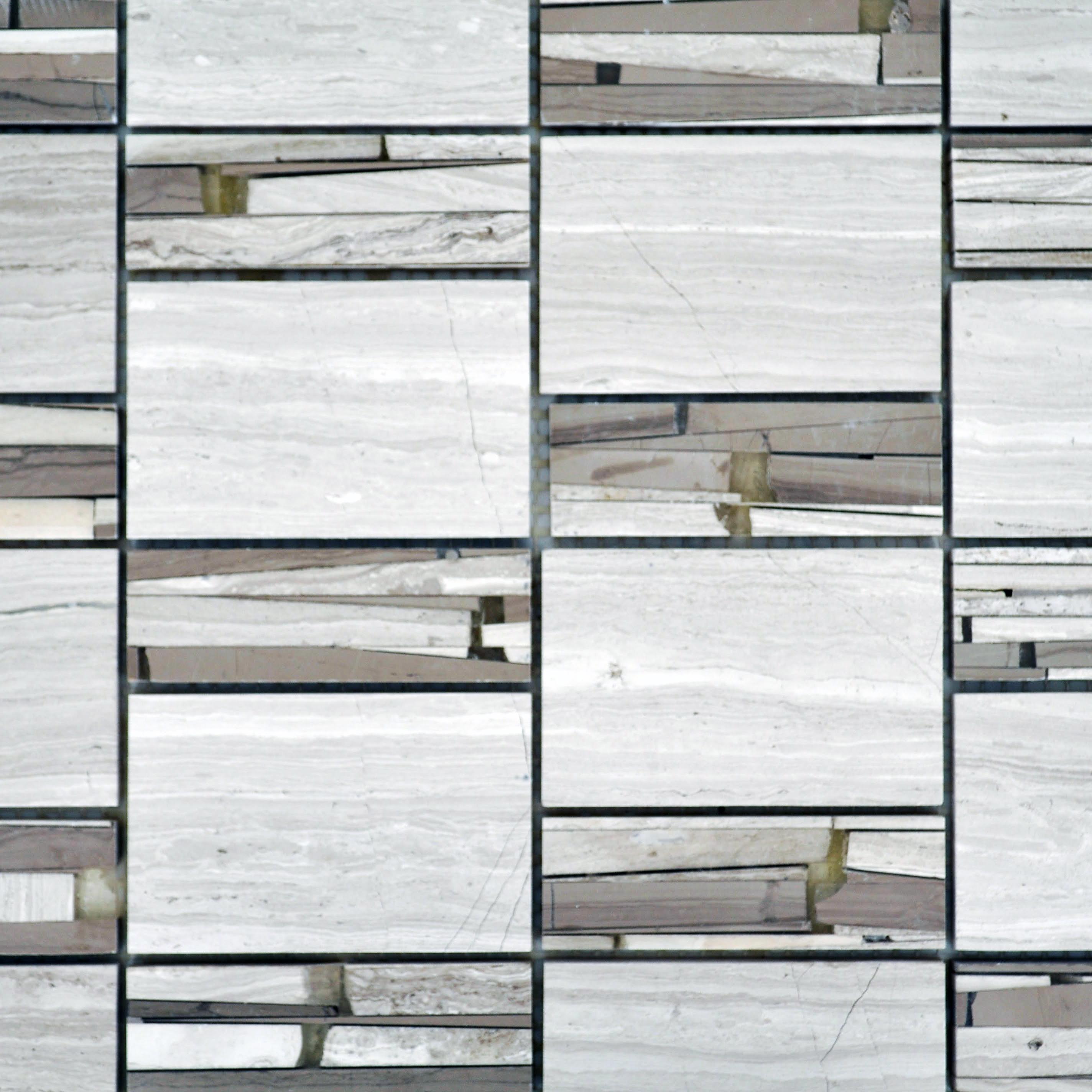 Sandi marble resin stacked white vein and noble vein for Bella casa tiles