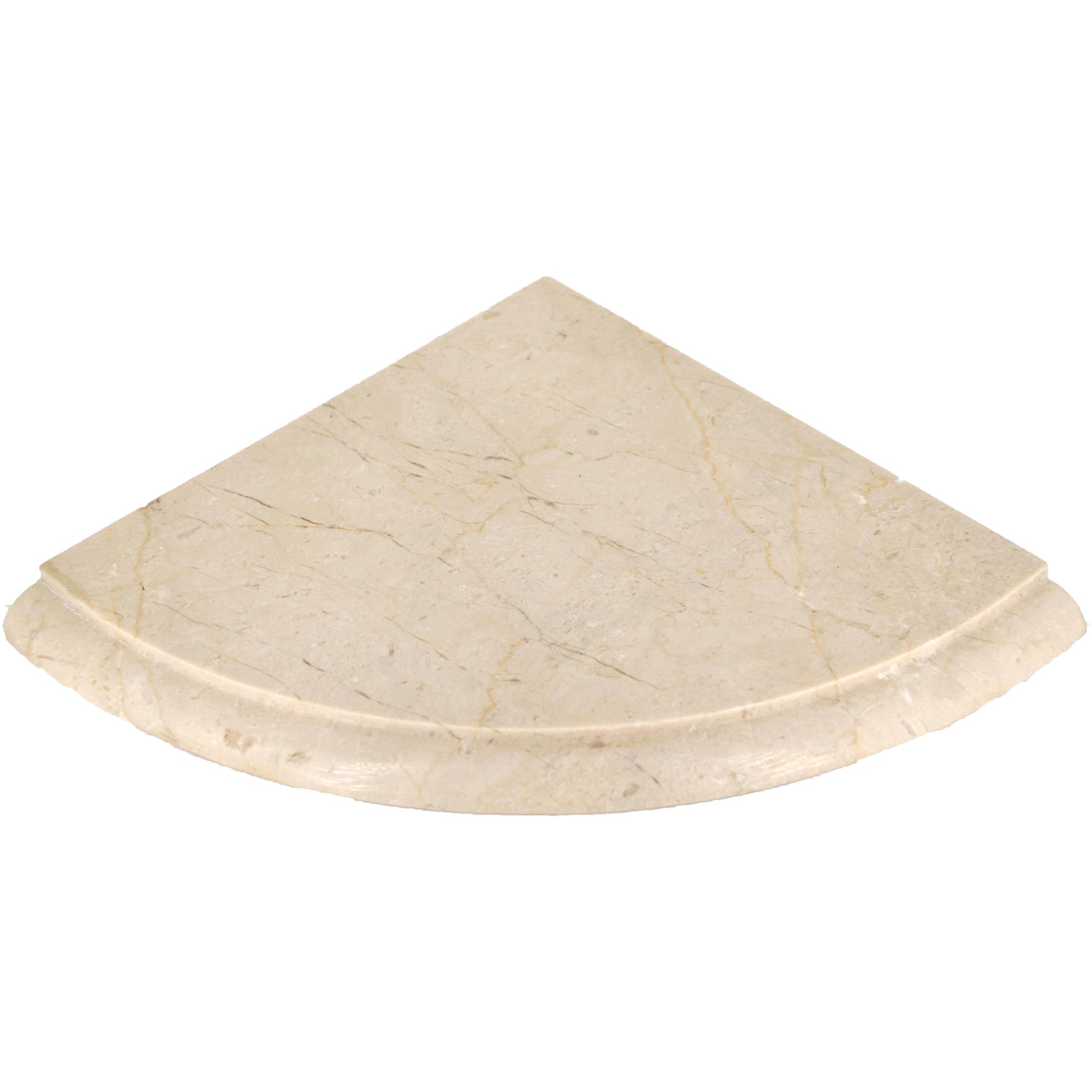 Shower shelves ivory travertine polished 8 x 8 polished for Bella casa tiles