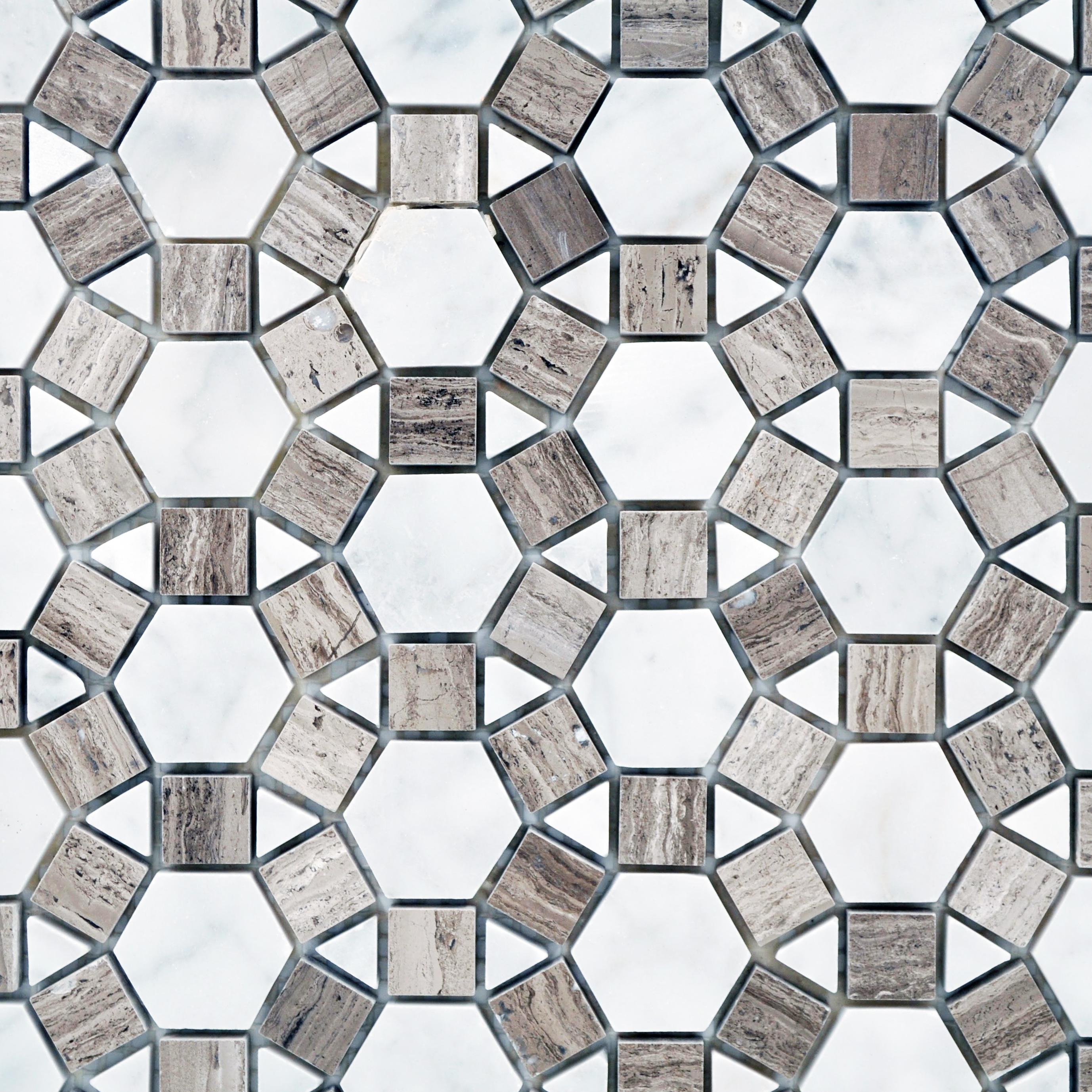 Sunflower carrara wood vein grey bella casa tile collection for Bella casa tiles