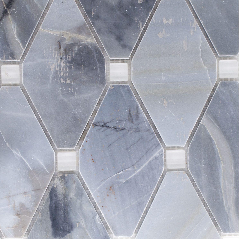 Abigail stone glass ling blue white glass bella casa for Bella casa tiles