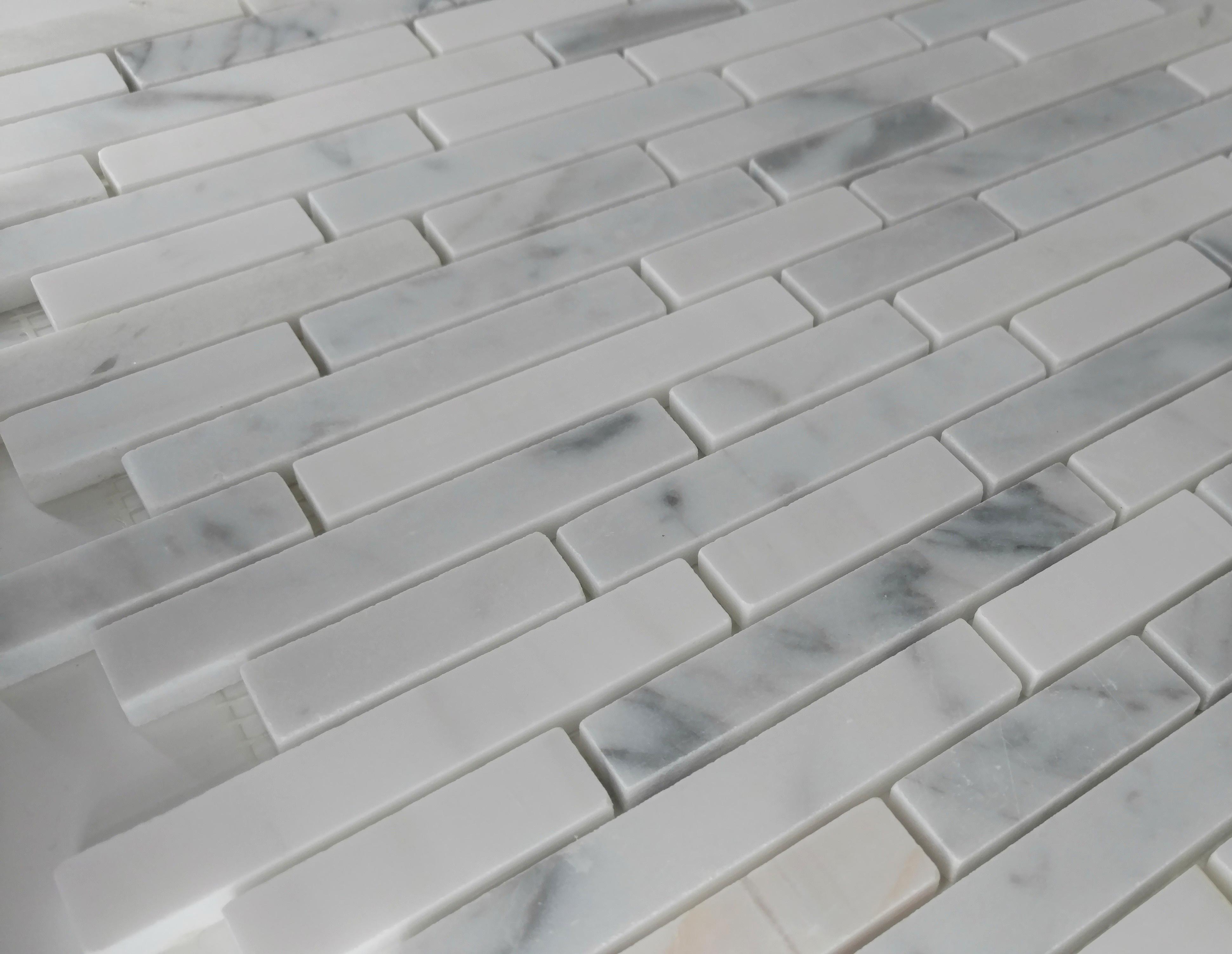Linear carrara with star white bella casa tile collection for Bella casa tiles