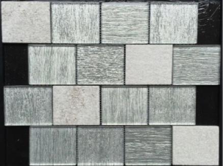Stratos white glass stone bella casa tile collection for Bella casa tiles